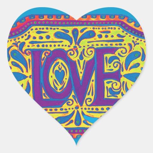 Amor del arco iris pegatina corazon personalizadas