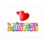 Amor del arco iris postales