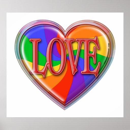 Amor del arco iris póster