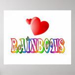 Amor del arco iris posters