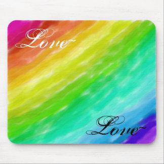 Amor del arco iris tapete de ratones