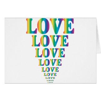 Amor del arco iris tarjeta de felicitación