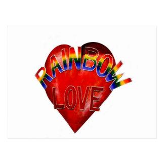 Amor del arco iris tarjetas postales