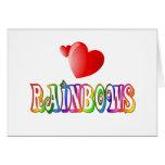 Amor del arco iris tarjeton