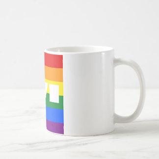 AMOR del arco iris Taza