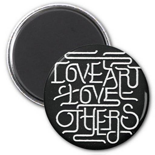 amor del arte del amor otros imán redondo 5 cm