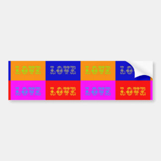 Amor del arte pop etiqueta de parachoque