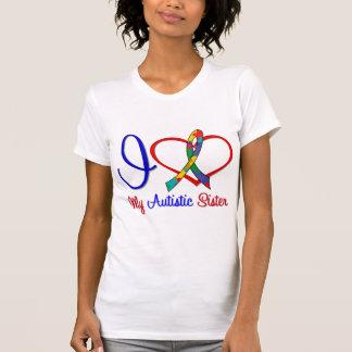 Amor del autismo I mi hermana autística Camisetas
