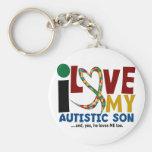 Amor del AUTISMO I mi hijo autístico 2 Llaveros Personalizados