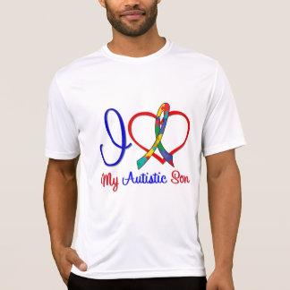 Amor del autismo I mi hijo autístico Camiseta