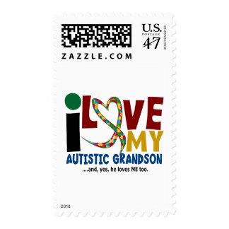 Amor del AUTISMO I mi nieto autístico 2 Sellos Postales