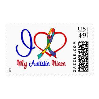 Amor del autismo I mi sobrina autística Sellos