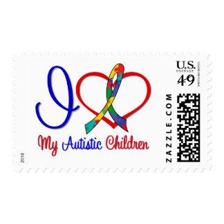 Amor del autismo I mis niños autísticos Sellos