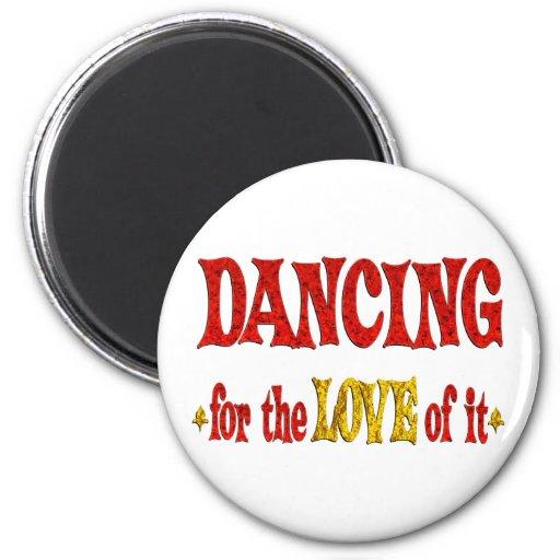 Amor del baile imán redondo 5 cm