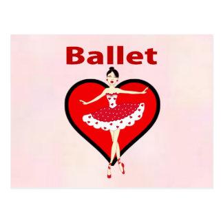Amor del ballet tarjeta postal