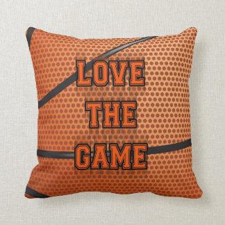 Amor del baloncesto el juego almohada
