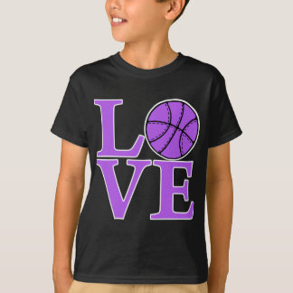 AMOR del baloncesto, lavanda Playera