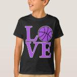 AMOR del baloncesto, lavanda Playeras