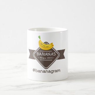 Amor del #bananagram usted taza del logotipo del