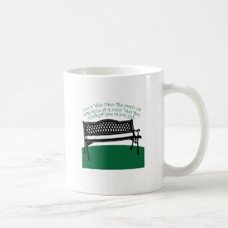 Amor del banco tazas de café