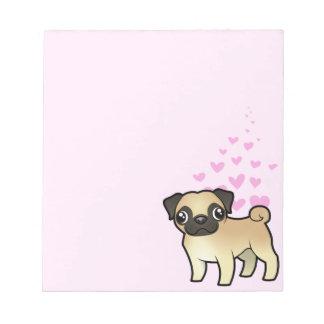 Amor del barro amasado bloc de papel