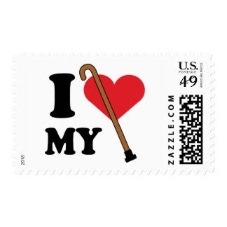 Amor del bastón franqueo