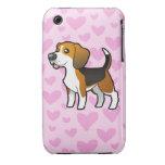 Amor del beagle iPhone 3 Case-Mate cárcasas