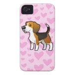 Amor del beagle iPhone 4 fundas