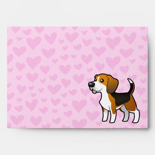 Amor del beagle sobre