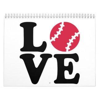 Amor del béisbol calendario