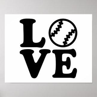 Amor del béisbol póster