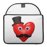 Amor del bigote con Tophat Fundas Macbook Pro
