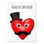 Amor del bigote con Tophat Comunicado Personalizado