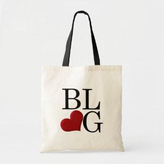 Amor del blog bolsa tela barata