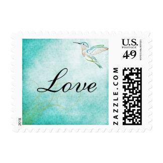 Amor del boda de la acuarela del colibrí de la envio