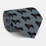 Amor del border collie corbata