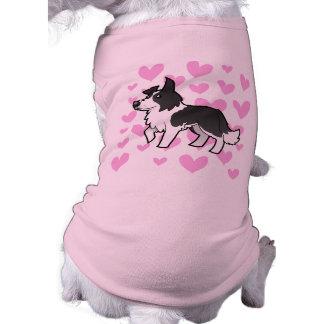 Amor del border collie ropa para mascota
