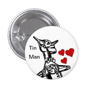 Amor del botón del hombre de la lata el gran mago  pin redondo de 1 pulgada