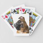 Amor del boxeador baraja cartas de poker