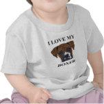 Amor del boxeador camisetas