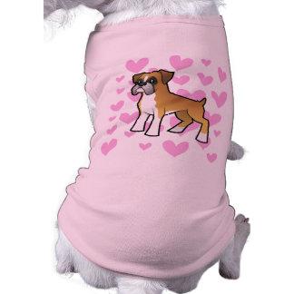 Amor del boxeador ropa de perros