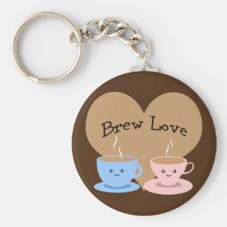 ¡Amor del Brew! Tazas de café Llavero Redondo Tipo Pin