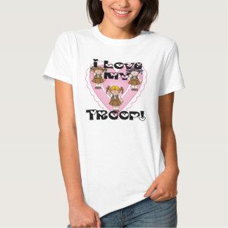 Amor del brownie I mis corazones de la tropa Camisas