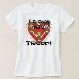 Amor del brownie I mis corazones de la tropa Playeras