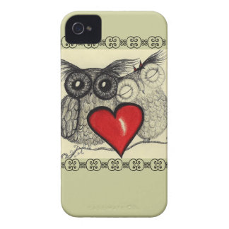 Amor del búho - carcasa para iPhone 4 de Case-Mate