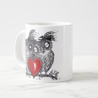 Amor del búho usted para siempre - taza de la espe taza grande
