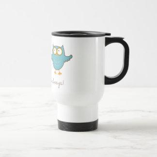 amor del búho usted taza de café