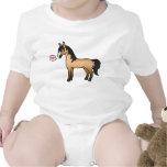 Amor del caballo del dibujo animado del ante traje de bebé