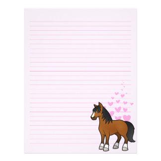 Amor del caballo membretes personalizados