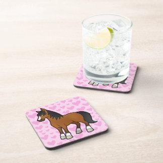 Amor del caballo posavasos de bebida
